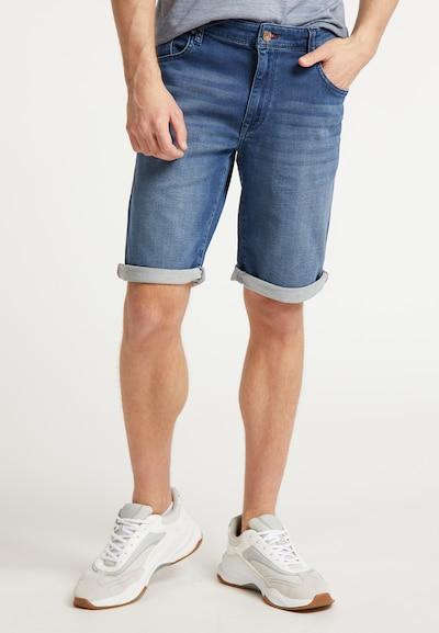 Petrol Industries Shorts in blue denim, Modelansicht