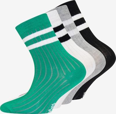 Kojinės iš EWERS , spalva - šviesiai pilka / žalia / juoda / balta, Prekių apžvalga