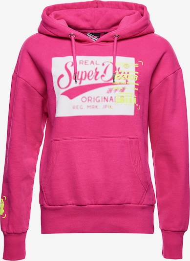 Superdry Sweatshirt in pink / weiß, Produktansicht