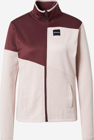 COLUMBIA Αθλητική ζακέτα φούτερ σε ροζ