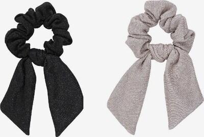 Little Pieces Scrunchie 'Ville' in schwarz / silber, Produktansicht