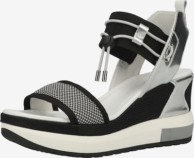 Nero Giardini Sandale in schwarz / silber / weiß, Produktansicht