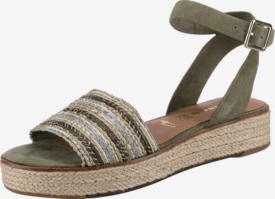 TAMARIS Sandals in Beige / Dark brown / Gold / Khaki / Silver, Item view