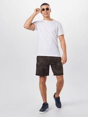 Abercrombie & Fitch Shorts in antraciet grijs / olijfgroen / donkergroen