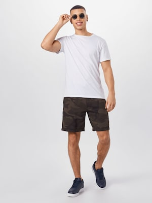 Abercrombie & Fitch Shorts in anthrazit / oliv / dunkelgrün