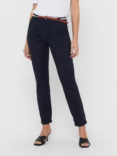 ONLY Pantalon chino 'Biana' en bleu foncé / marron / blanc, Vue avec modèle