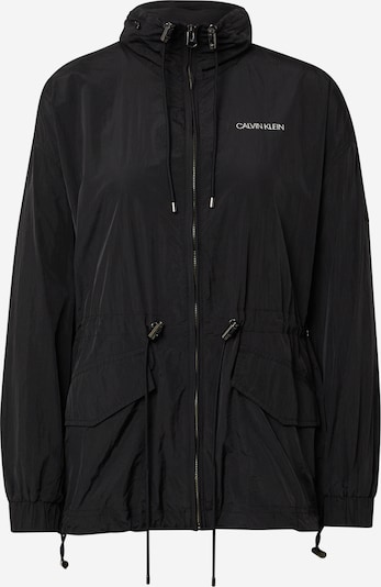 Calvin Klein Veste mi-saison en noir / blanc, Vue avec produit