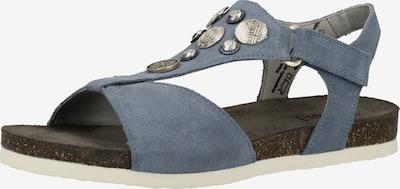 THINK! Sandalen in blue denim / schwarz / silber / weiß, Produktansicht
