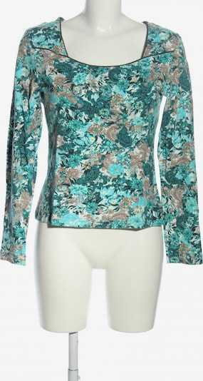Kenny S. Top & Shirt in M in Turquoise / Brown / Light grey: Frontal view