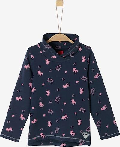 s.Oliver Sweatshirt in blau / pink, Produktansicht