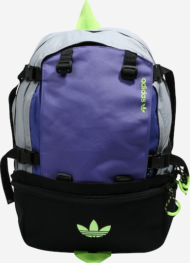 ADIDAS ORIGINALS Nahrbtnik 'Adventure' | modra / siva / neonsko zelena / črna / srebrna barva, Prikaz izdelka