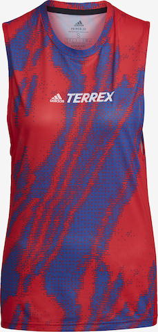 adidas Terrex Sports Top 'Terrex Parley Agravic' in Red