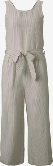 TOM TAILOR Jumpsuit in grau / weiß, Produktansicht