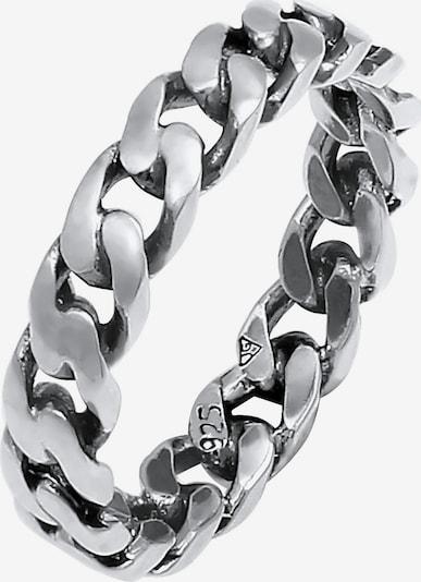 ELLI Δαχτυλίδι 'Twisted' σε μαύρο / ασημί, Άποψη προϊόντος
