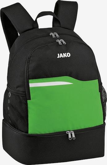 JAKO Rucksack in grün / schwarz, Produktansicht