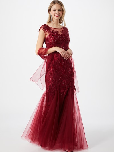 mascara Společenské šaty 'Ivory' - vínově červená, Model/ka