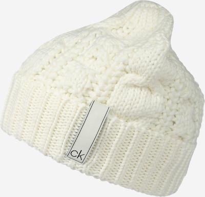 Megzta kepurė iš Calvin Klein , spalva - natūrali balta, Prekių apžvalga