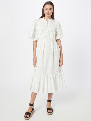 Stella Nova - Vestido camisero en blanco