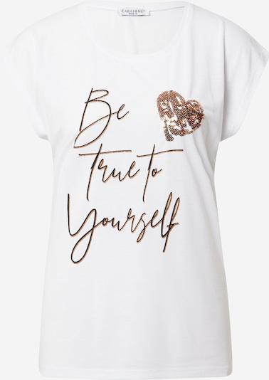 ZABAIONE Shirt 'Pipa' in gold / schwarz / weiß, Produktansicht