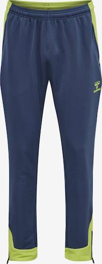Hummel Sportbroek in de kleur Navy / Groen, Productweergave