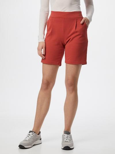 ICHI Pantalon chino en rouge rouille, Vue avec modèle
