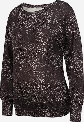 LOVE2WAIT Sweatshirt 'Sweater Nursing AOP' in Grey