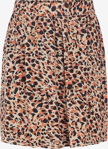PIECES Skirt 'Nya' in Beige