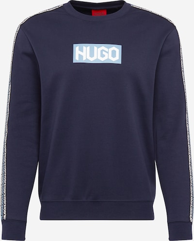 HUGO Sweatshirt 'Dubeshi' in hellblau / dunkelblau, Produktansicht
