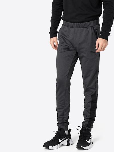 Sportinės kelnės iš PUMA , spalva - tamsiai pilka / juoda: Vaizdas iš priekio