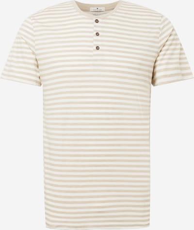 Tricou TOM TAILOR pe nisipiu / alb, Vizualizare produs