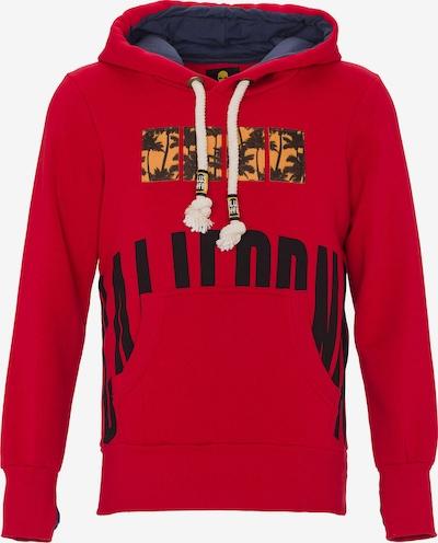 PLUS EIGHTEEN Sweatshirt in de kleur Beige / Rood / Zwart, Productweergave