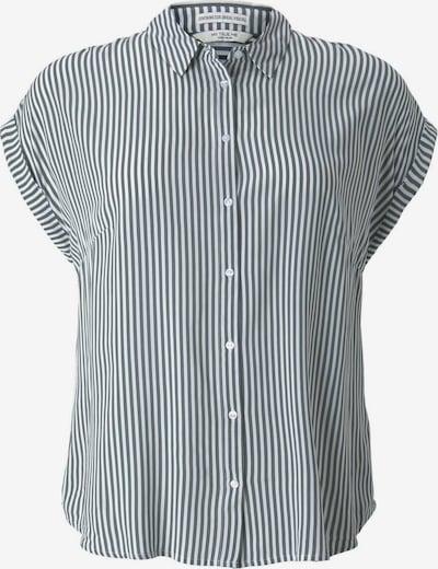 MY TRUE ME Bluse in dunkelgrün / weiß, Produktansicht