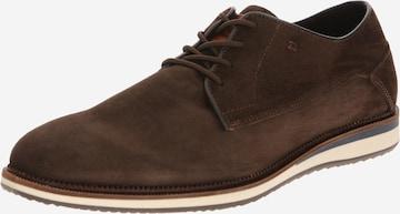 BULLBOXER Δετό παπούτσι σε καφέ