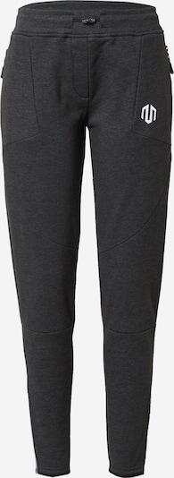 MOROTAI Pantalon de sport 'Comfy Performance' en gris foncé / blanc, Vue avec produit