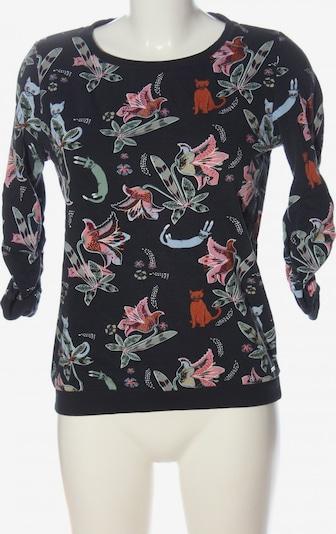TOM TAILOR DENIM Sweatshirt in S in grün / pink / schwarz, Produktansicht