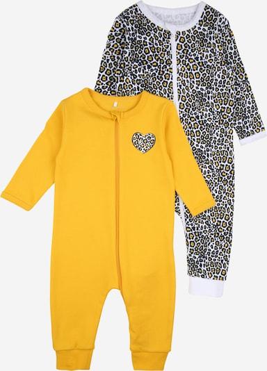 NAME IT Schlafanzug in gelb / schwarz / weiß, Produktansicht