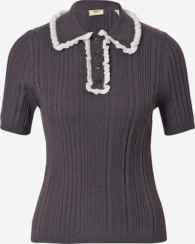 LEVI'S Пуловер в тъмносиво / бяло, Преглед на продукта