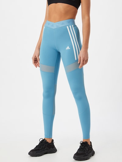 ADIDAS PERFORMANCE Sporthose in hellblau / weiß, Modelansicht
