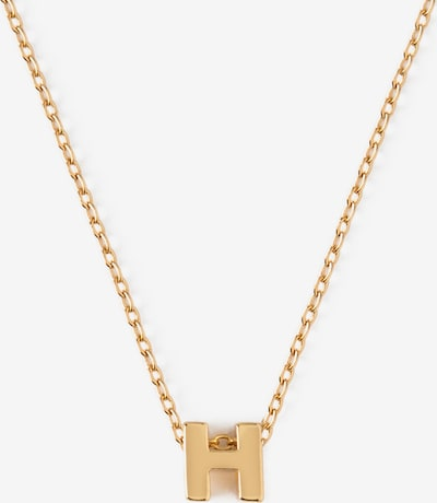 Orelia Chaîne 'Initial H' en or, Vue avec produit