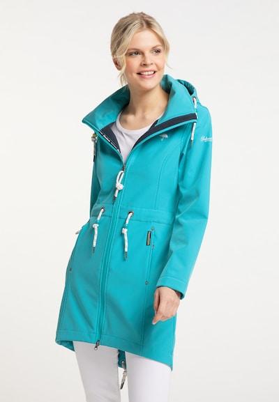 Schmuddelwedda Raincoat in Turquoise, View model