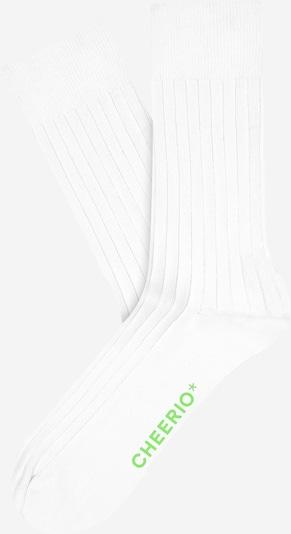 CHEERIO* Socken 'TOUGH GUY' in weiß, Produktansicht