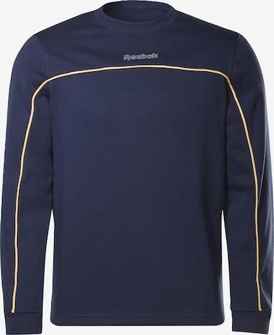 REEBOK Sportsweatshirt in navy / gelb, Produktansicht