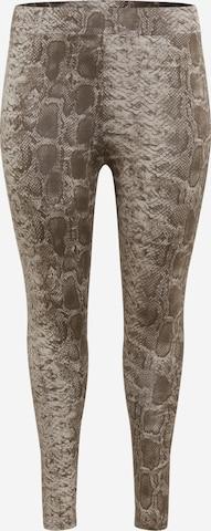 Leggings de la ONLY Carmakoma pe bej