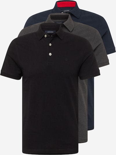 JACK & JONES Shirt 'PAULOS' in de kleur Navy / Donkergrijs / Zwart, Productweergave