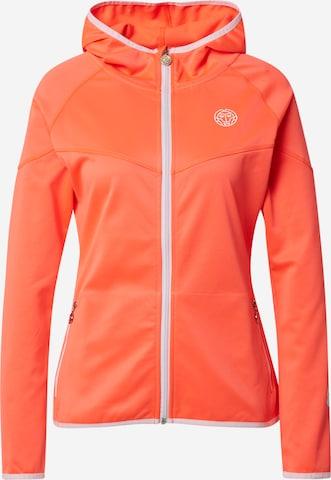 BIDI BADU Bluza rozpinana sportowa 'Inga Tech Jacket' w kolorze pomarańczowy
