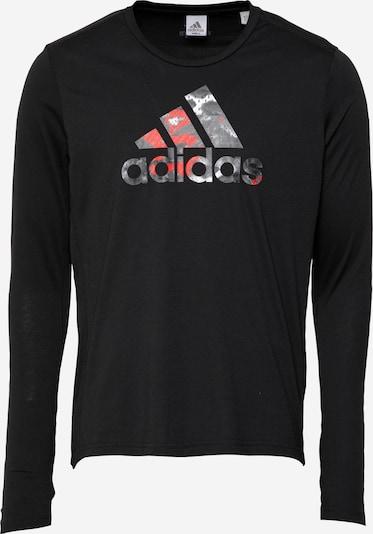 ADIDAS PERFORMANCE Sportshirt 'FAST' in dunkelgrau / rot / schwarz / weiß, Produktansicht