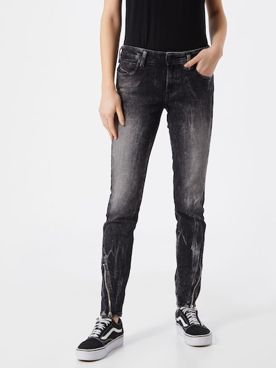 DIESEL Jeans 'JEVEL' in black denim, Modelansicht