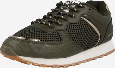 ONLY Sneaker 'SAHEL' in gold / oliv, Produktansicht