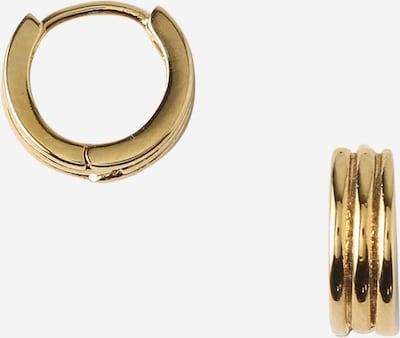 Orelia Ohrringe 'Ridged Huggie' in gold, Produktansicht
