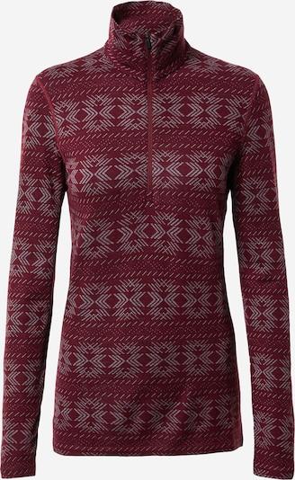 Sportinis megztinis 'Crystalline' iš Icebreaker , spalva - tamsiai raudona / balta, Prekių apžvalga